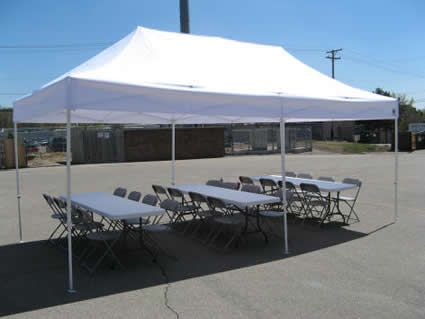 10x20 Tent With 3 Banquet Tables Canopy Tent Tent Event Tent
