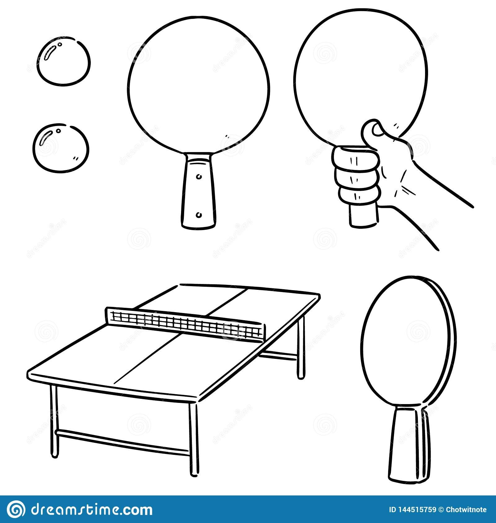 Pin By Kaca Kalocova On Doodles In 2020 Table Tennis Doodle Illustration Doodles