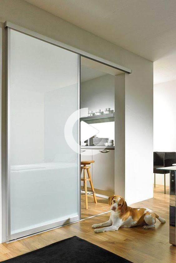 Sliding glass door with aluminum frame and frosted glass. sliding | Glass door | Frosted glass | Sliding glass | Glass doors Interior | Sliding Kit | Sliding glass doors interior | Construction glass sliding door # # # sliding door glass door # kitchen #glasdoor #slidingdoor #interiordesign #kitchen #einrichtung #wohnen #hausbau #kitchenremodel