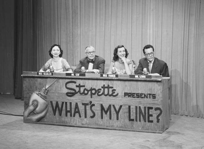 February 2 1950 The Longest Running U S Primetime Network Tv Game Show What S My Line Debuts On Cbs The Game T What S My Line Line Tv Classic Television