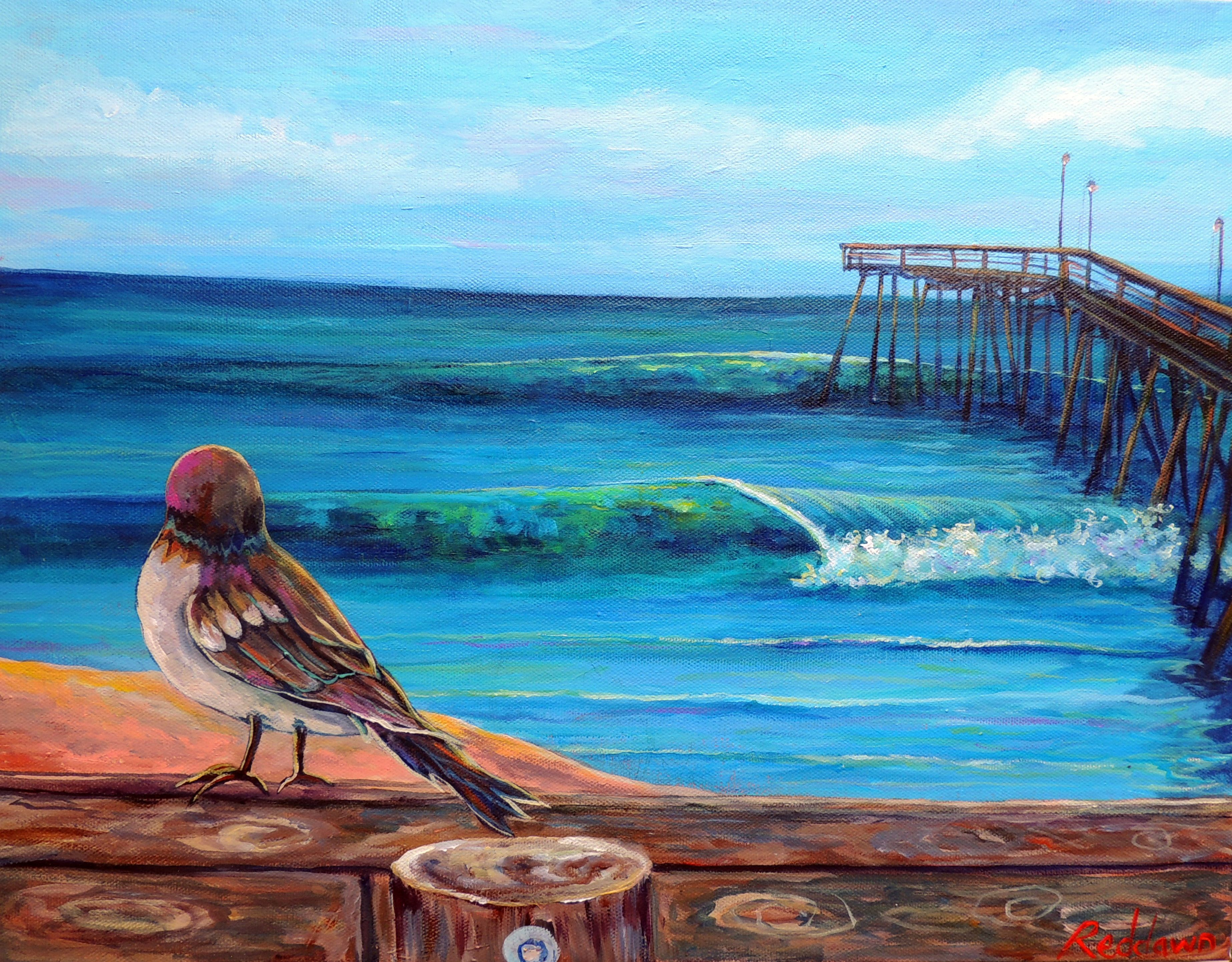 Surf Art Beach Decor-Surfing- Outer Banks-Avalon Pier Check out