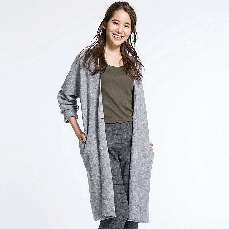 Women felted wool long coat | Uniqlo, Wardrobes and Winter wardrobe