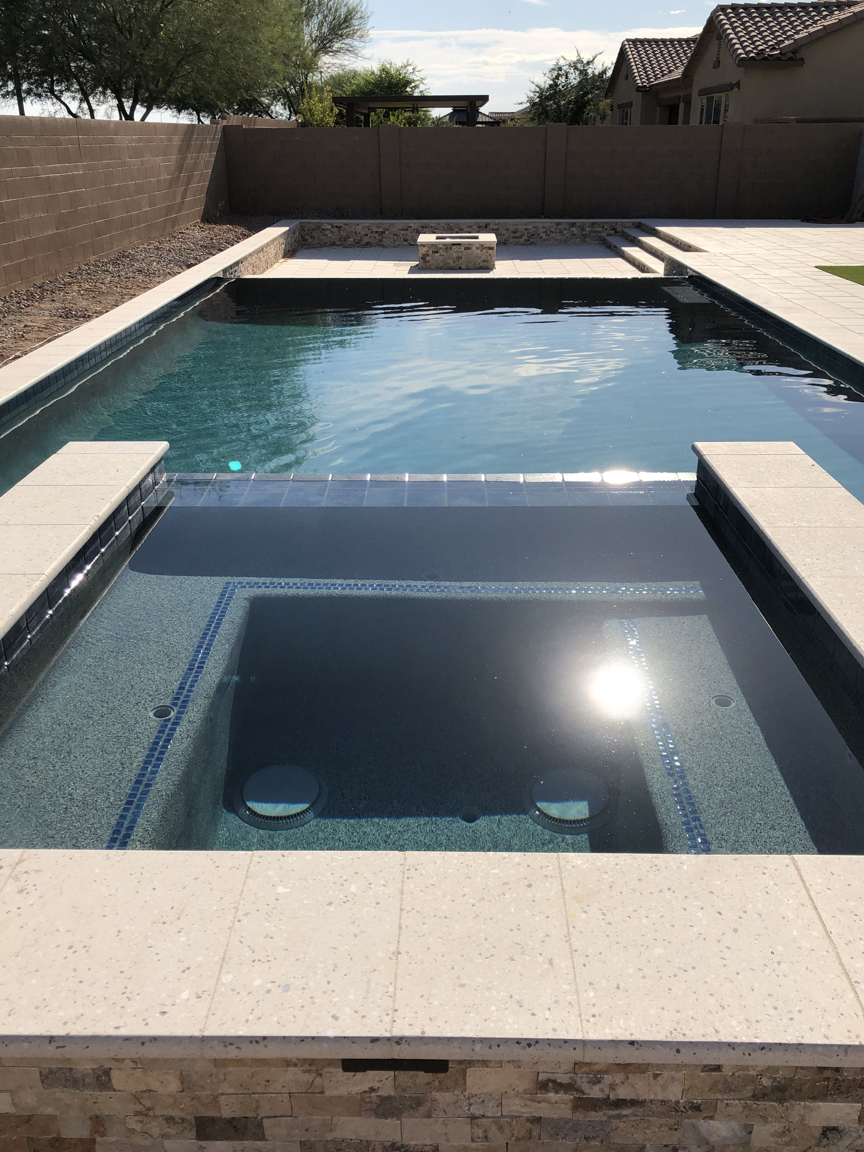 Clean Lines Yard Design Outdoor Chairs Lap Pool