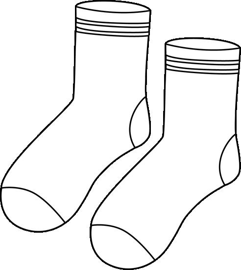 Pair Of Black And White Socks Black And White Socks Sock Image White Sock
