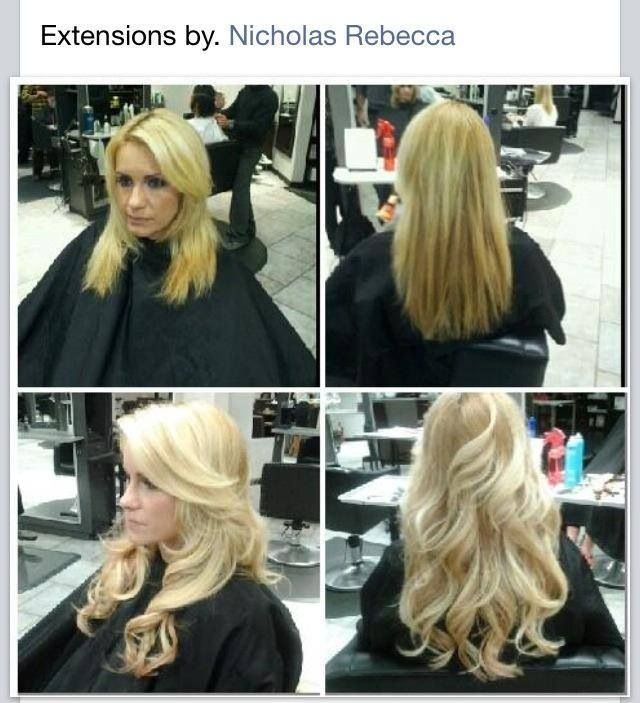 Full Head Of Hot Heads Tape In Hair Extensions Done By Nicholas