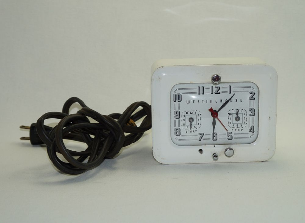 Vintage Westinghouse Kitchen Stove Clock Timer Model Tc 81 Made