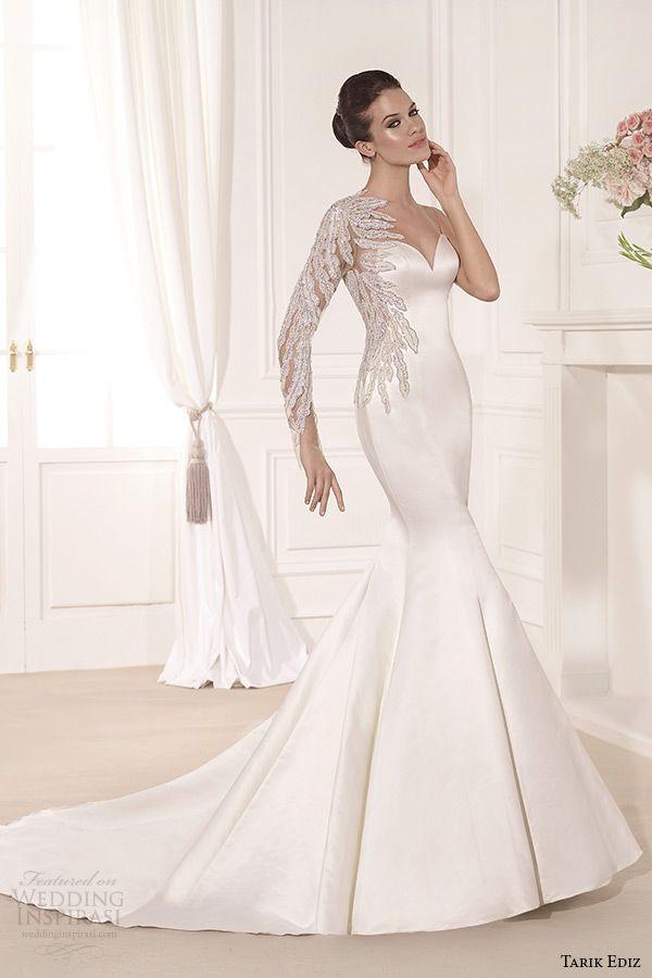 Long Sleeve Mermaid Wedding Gowns