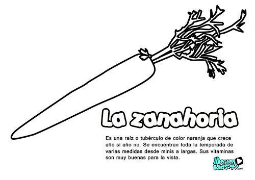 descargables educativos dibujos para colorear, las zanahorias ...