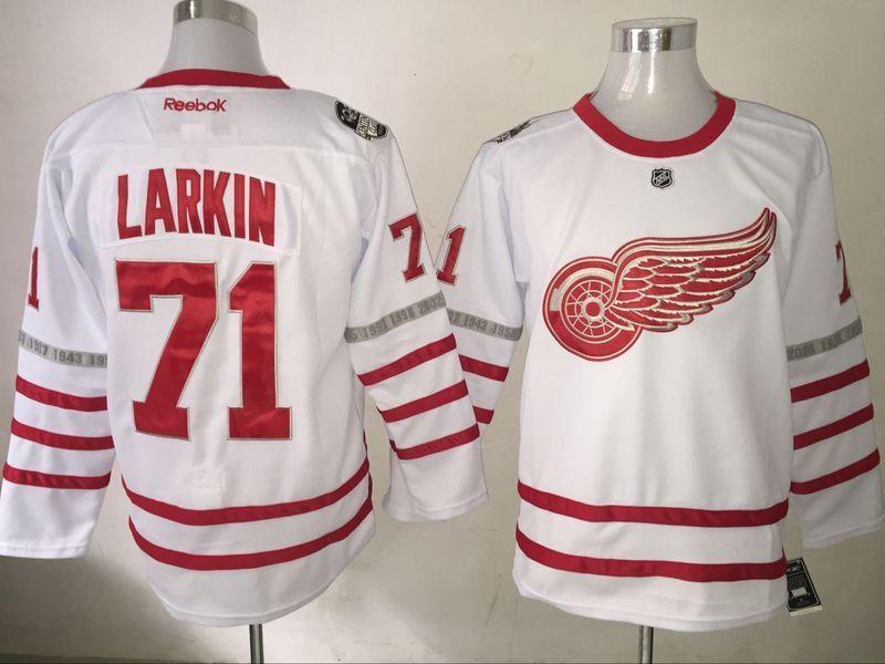 d6f3f0827 Hockey Jersey Men s Detroit Red Wings  71 Dylan Larkin Reebok Red ...