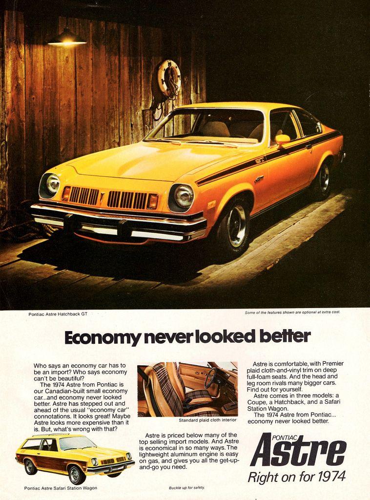 1974 Pontiac Astre Hatchback Gt Safari Station Wagon Canada
