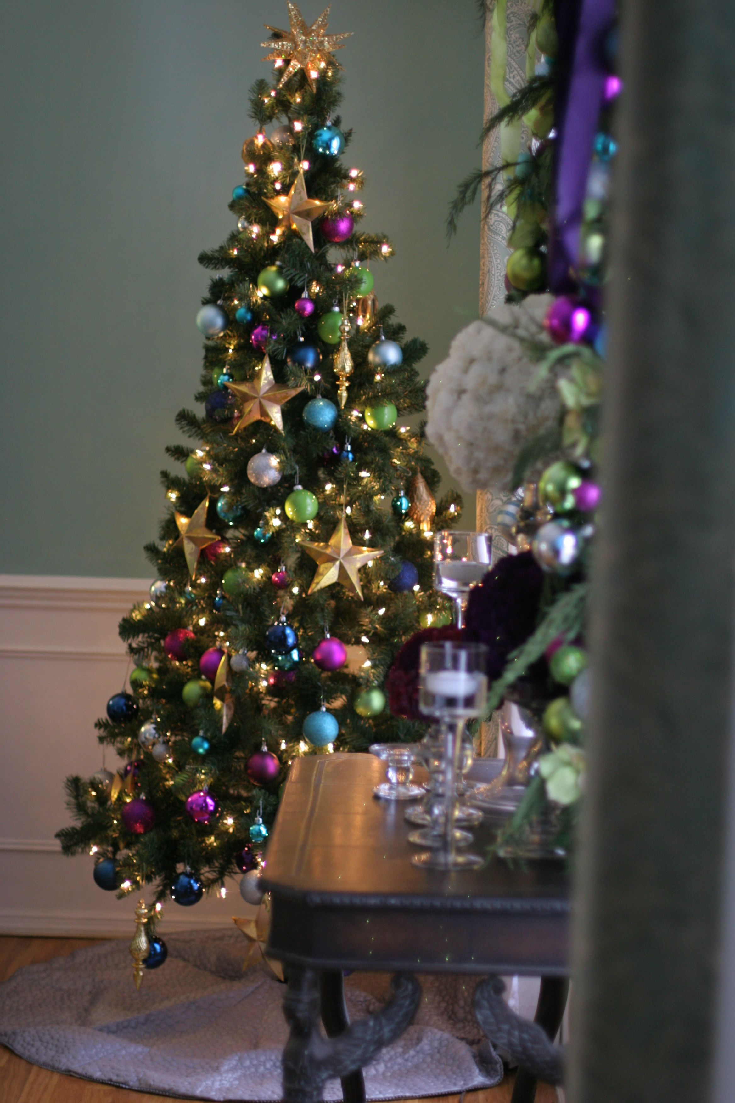 jewel toned christmas tree #thespecialeventflorist   christmas ...