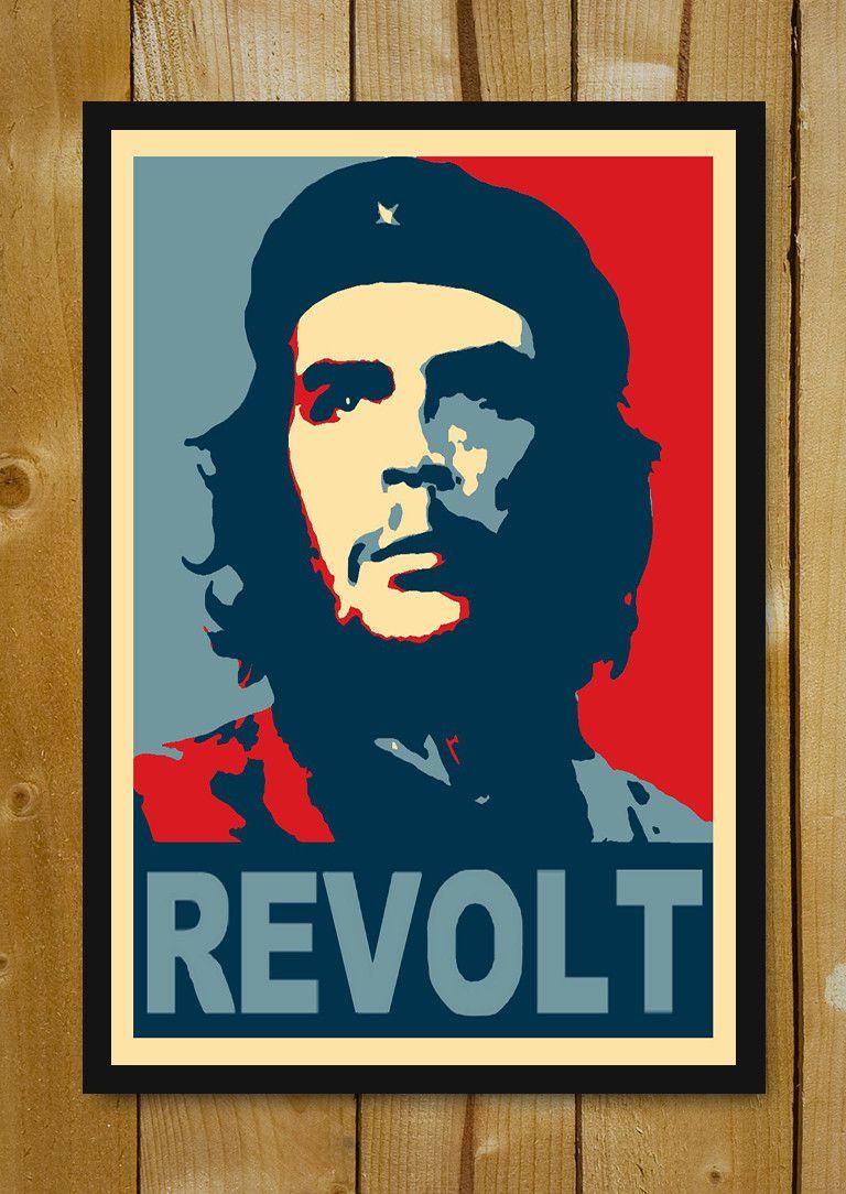 Buy Framed Posters Online Shopping India | Che Guevara Revolt Glass Framed Poster | PosterGully