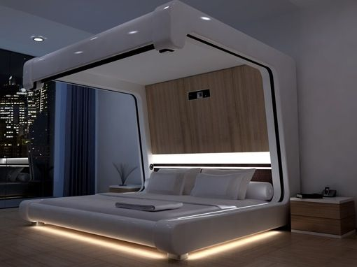 Futuristic Bedroom Futuristic Bedroom High Tech Interior Bedroom Design
