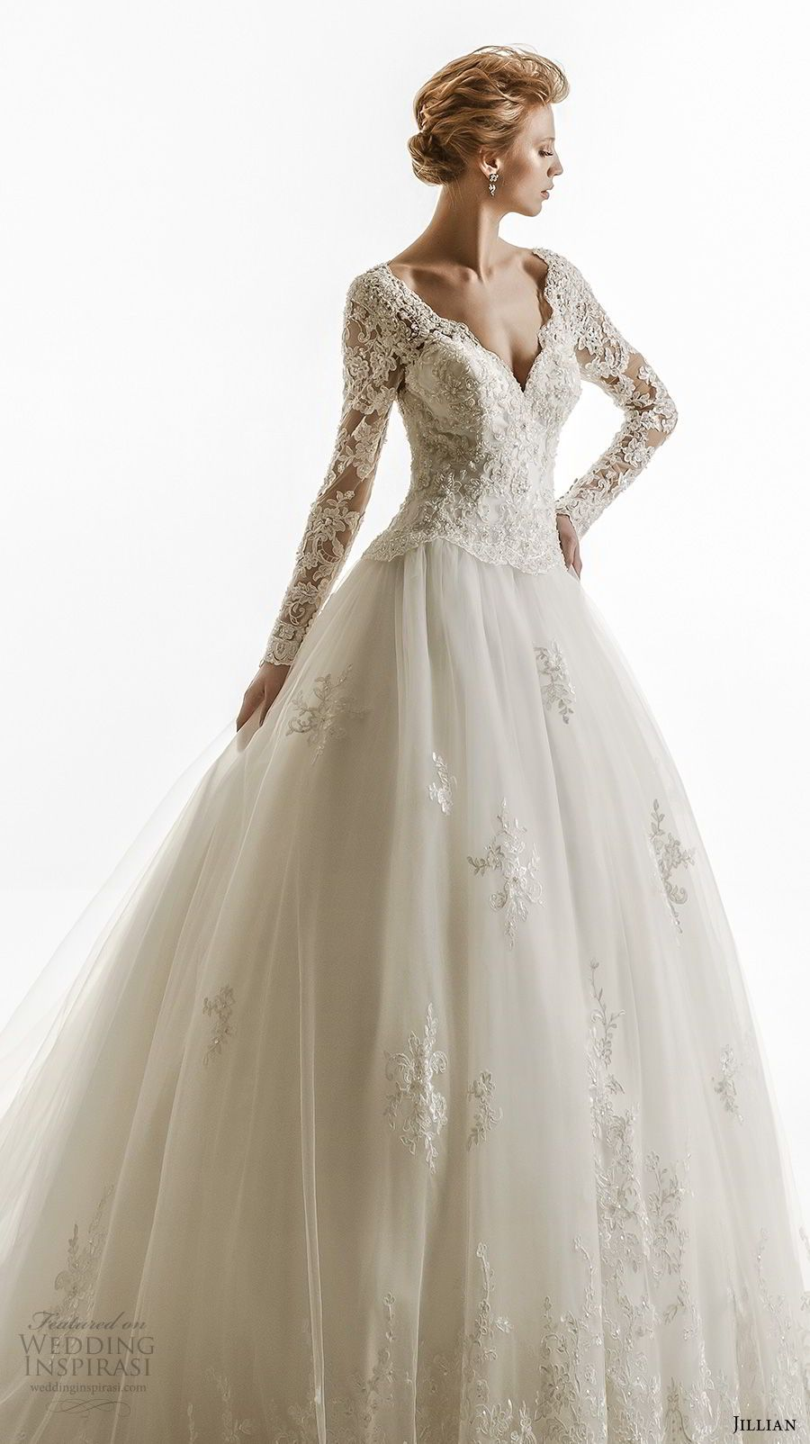 Jillian wedding dresses long sleeved u length sleeve