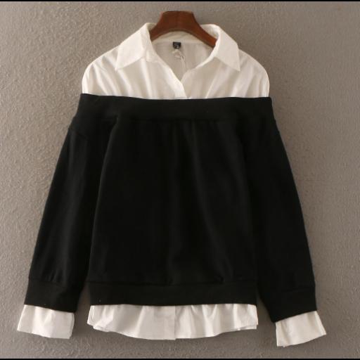 قمصان نسائية رسمية شتوية قمصان من القطن الابيض السكري مبطنة بالصوف بستايل الاكمام المنخفضة قمصان سادة متوفرة بثلا Clothes Fashion Winter Formal