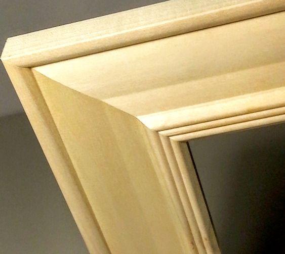 Set Of 2 Wide Rawunfinished Wood Picture Frames Hardwood 4x6