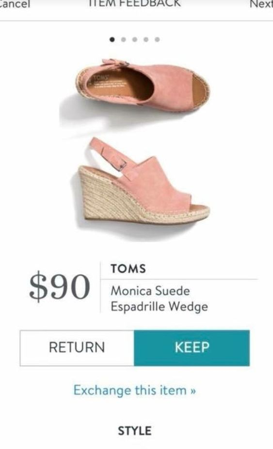 a3c30db79e44 TOMS Monica Suede Espadrille Wedge in blush soft pink. On trend for Spring    Summer 2018. Spring   Summer Fashion trends 2018. Sign up today   ask …