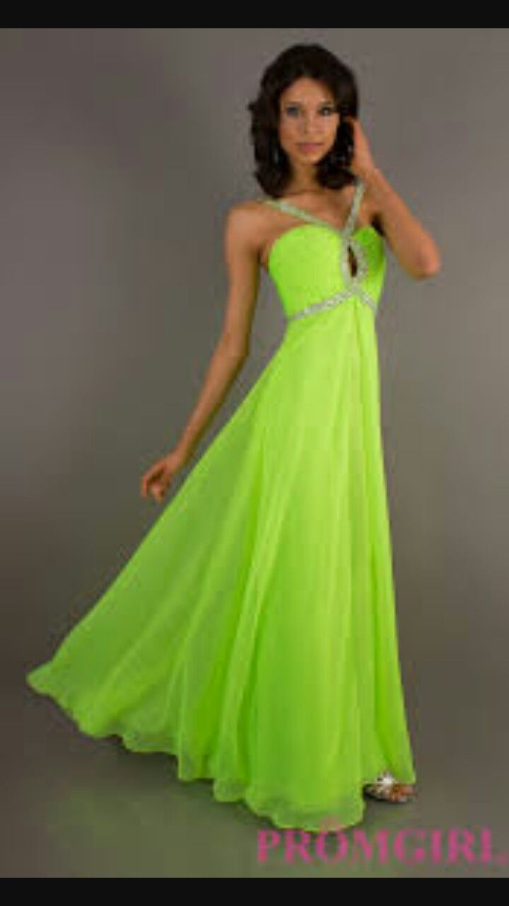Neon Prom Dresses Lime Green Wedding