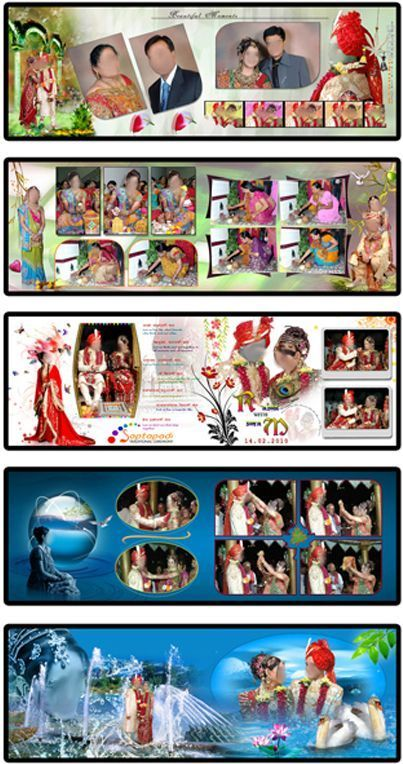 Indian Wedding Album Design 12x36 Psd Files Free Download In 2019