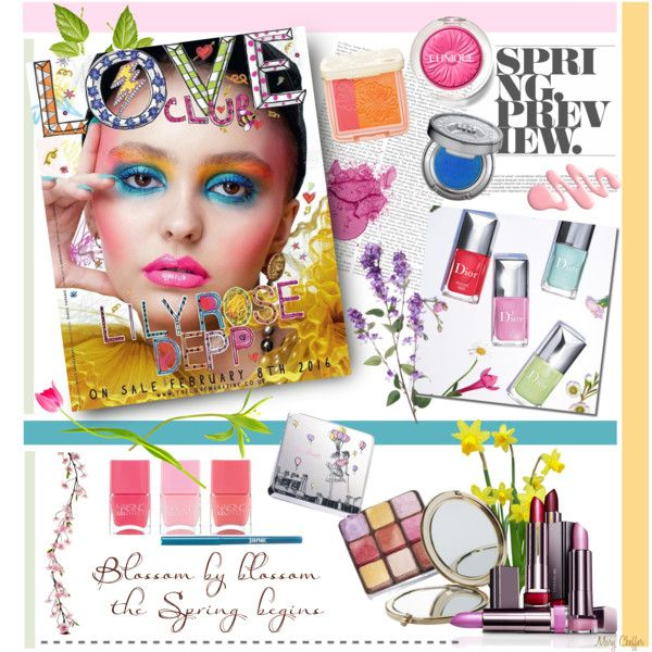Spring Preview: Lilly Rose Depp by mcheffer on Polyvore featuring Schönheit, Paul & Joe Beaute, Urban Decay, Clinique, Lancôme, jane, Nails Inc., Henri Bendel, Spring and Beauty