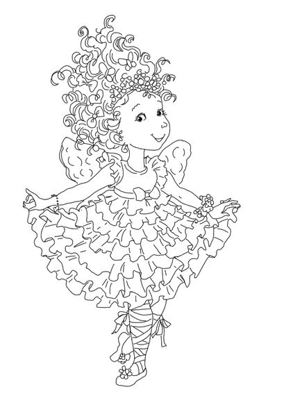Click to see printable version of Fancy Nancy Curtseying Coloring ...