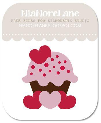 Nia Nore Lane: Heartsy Cupcake