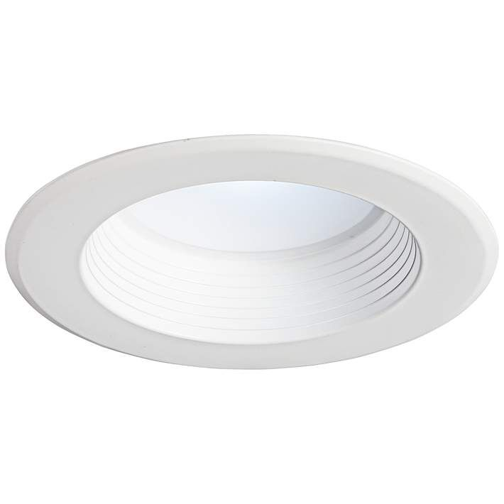 5 6 Baffle 16w Dimmable Led 1000 Lumen Retrofit Trim White 1w563 Lamps Plus In 2020 Recessed Lighting Led Can Lights Dimmable Led