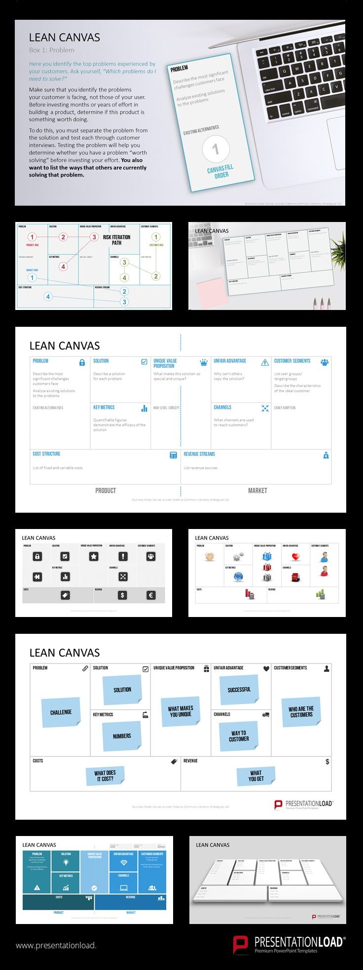 A canvas is a popular management tool for presenting