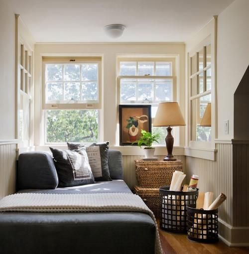 Cozy sleeping space with basket decor