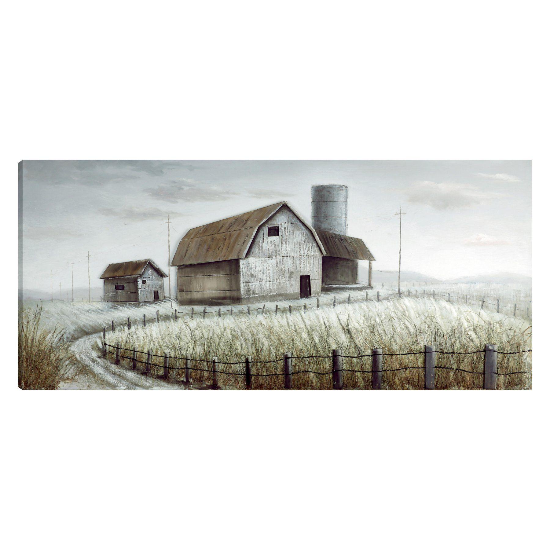 hobbitholeco Farmhouse I Acrylic Wall Art Painting