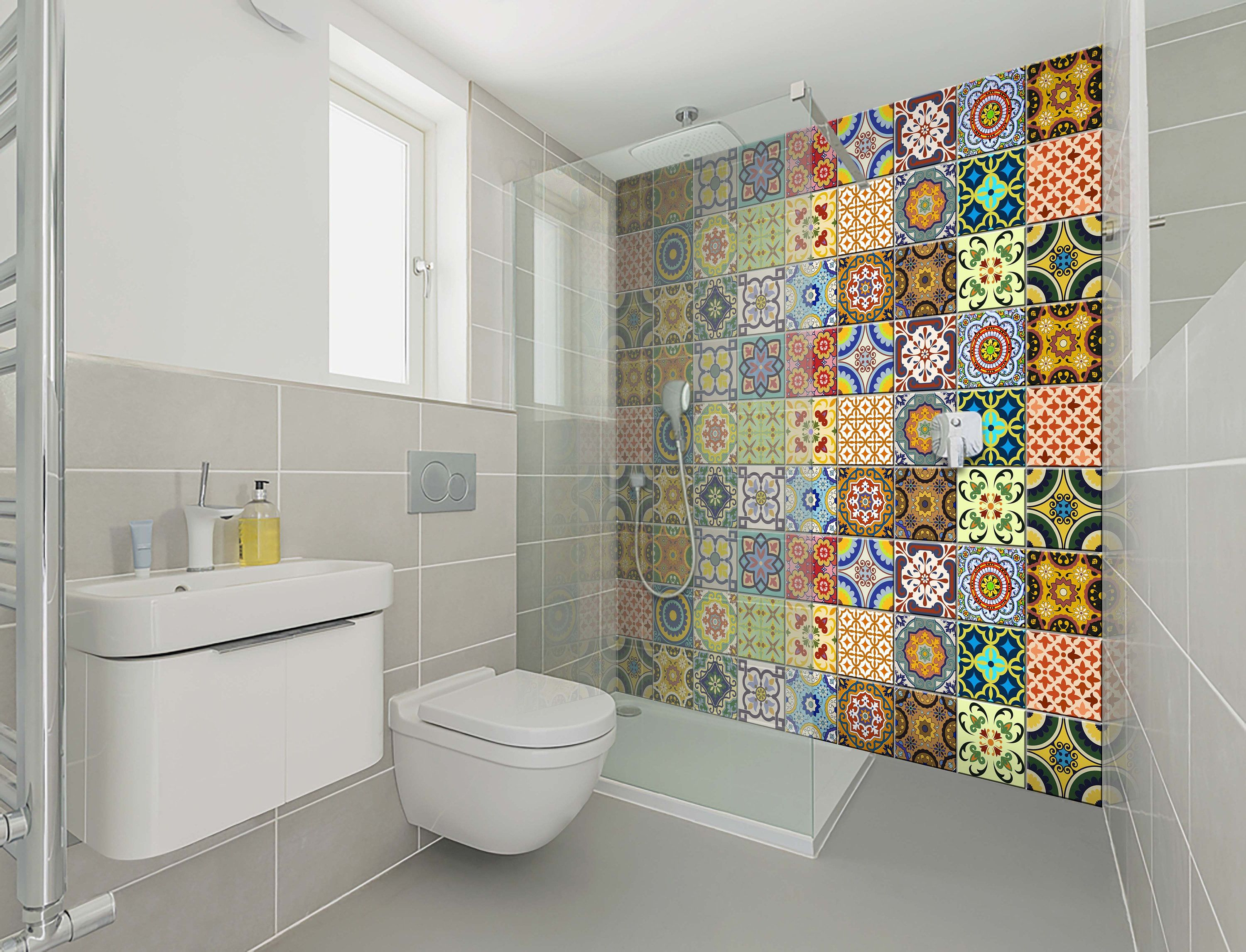 carrelage stickers spanish Set of 24 Tiles Decals Tiles ...