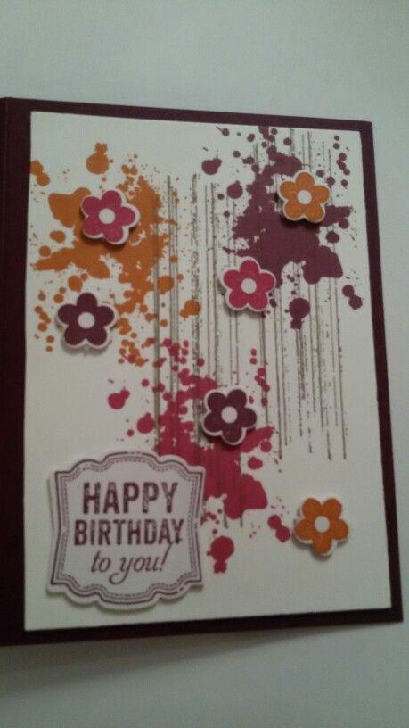 Happy birthday stampin up