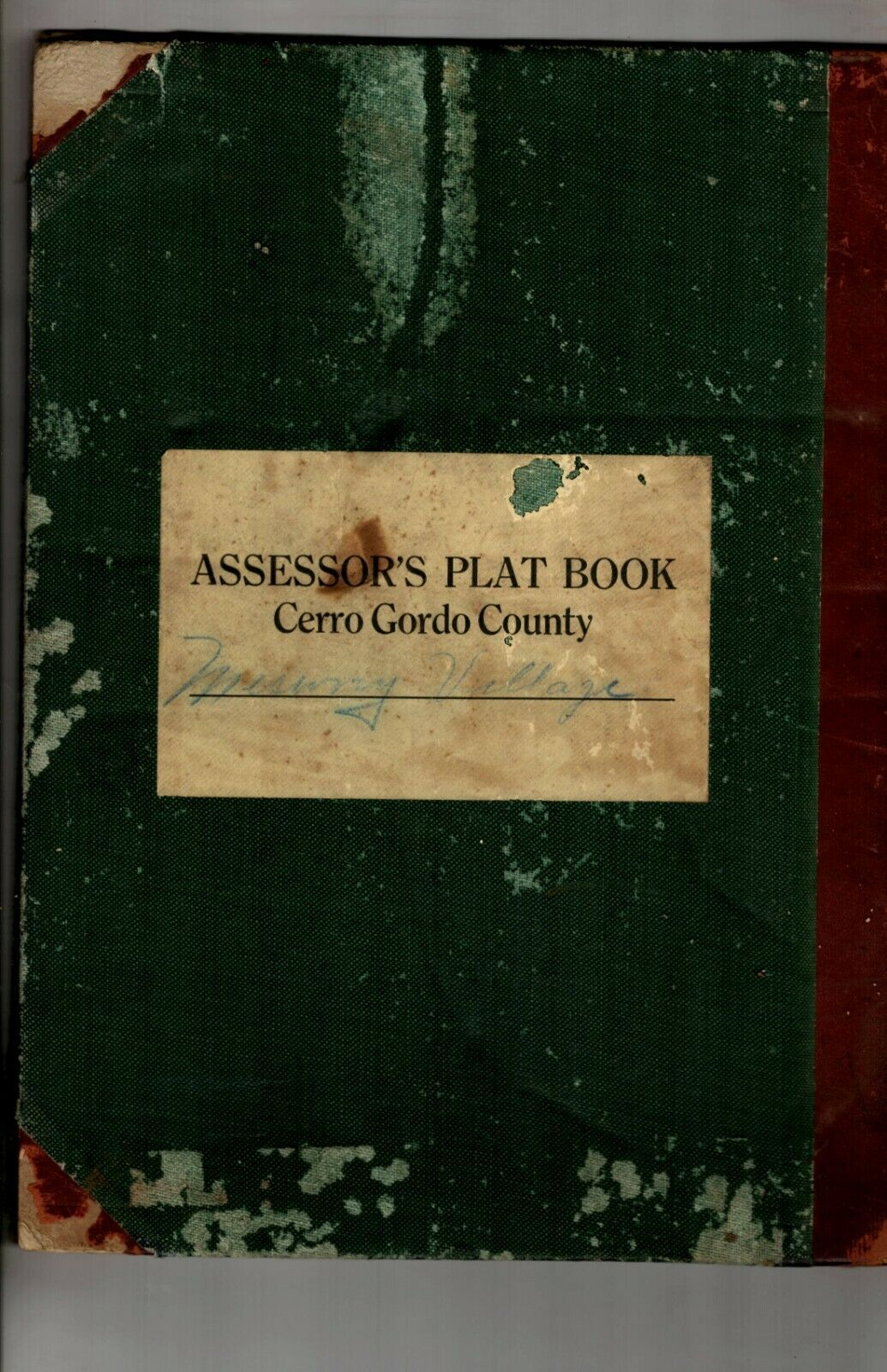 1913 Meservey Village Assessors Plat Book Cerro Gordo County