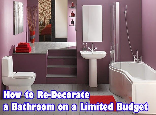 How To Re Decorate A Bathroom On A Limited Budget ~ Home Decors