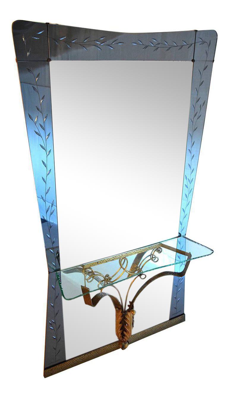 1950s hallway ideas  s Italian Hallway Mirror by Pier Luigi Colli  Decaso