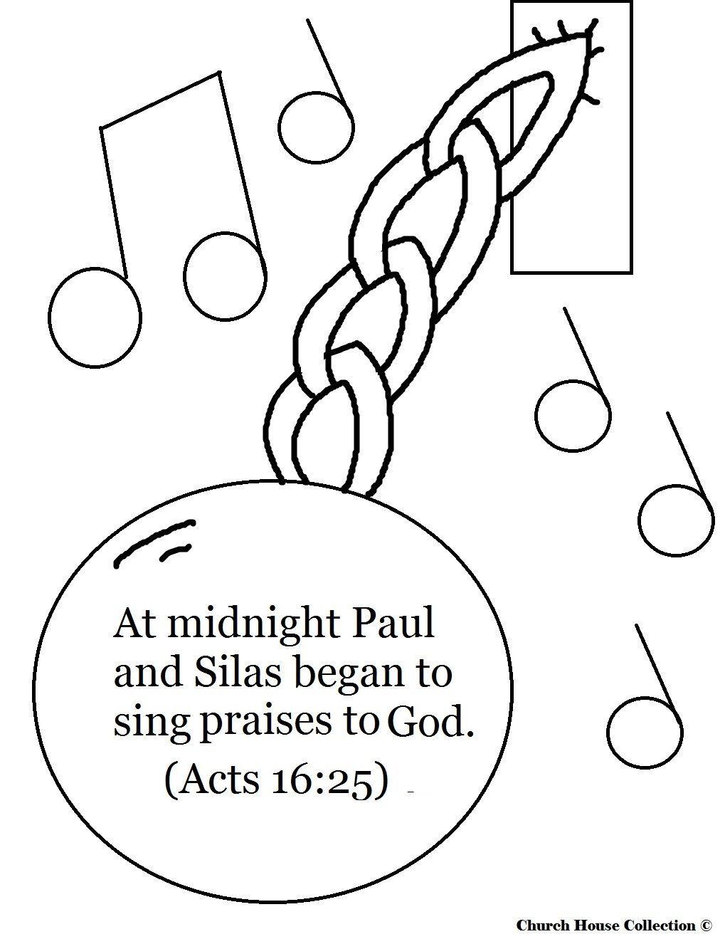 Paul And Silas Singing In Prison Coloring Pages Free Coloring Pages ...