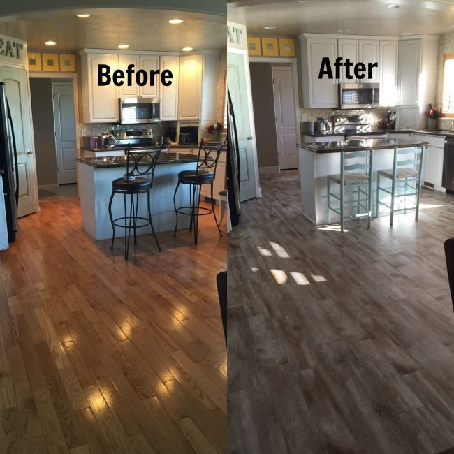 flooring before and after revealwood looking tile  wood