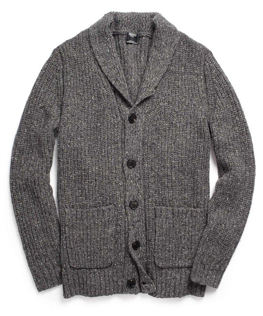 Oversized Shawl Collar Cardigan in Dark Grey | Sweaters & Sport ...