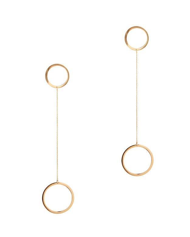 Jennifer Zeuner Laine Circle Double-Drop Earrings LFUbVzf
