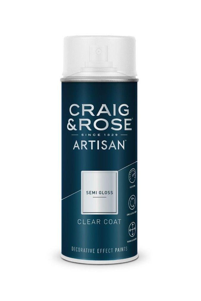 Craig Rose Clear Semi Gloss Top Coat Spray Paint