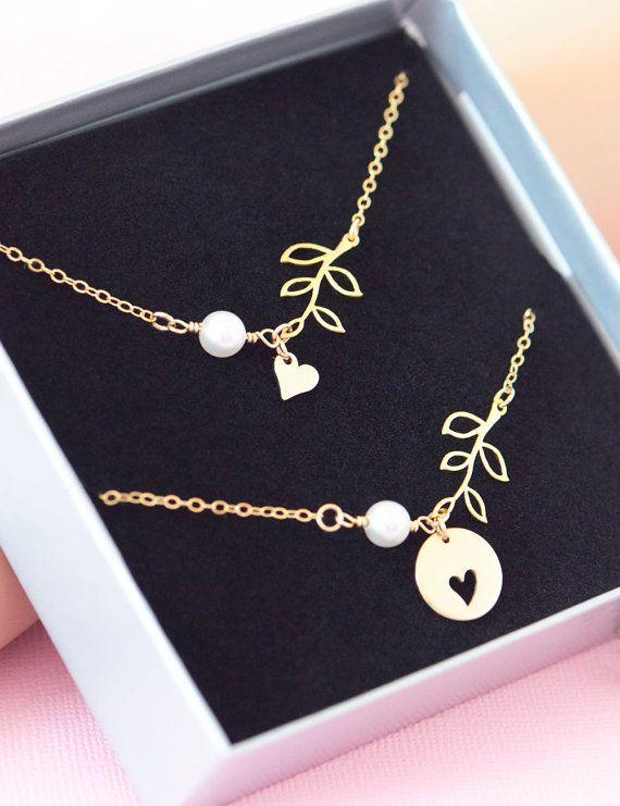 Gold Mutter Tochter Halskette von SilverLiningsByJKB auf Etsy