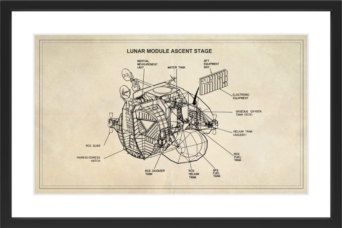 Marmont hill lunar ascent black framed art print smithsonian black