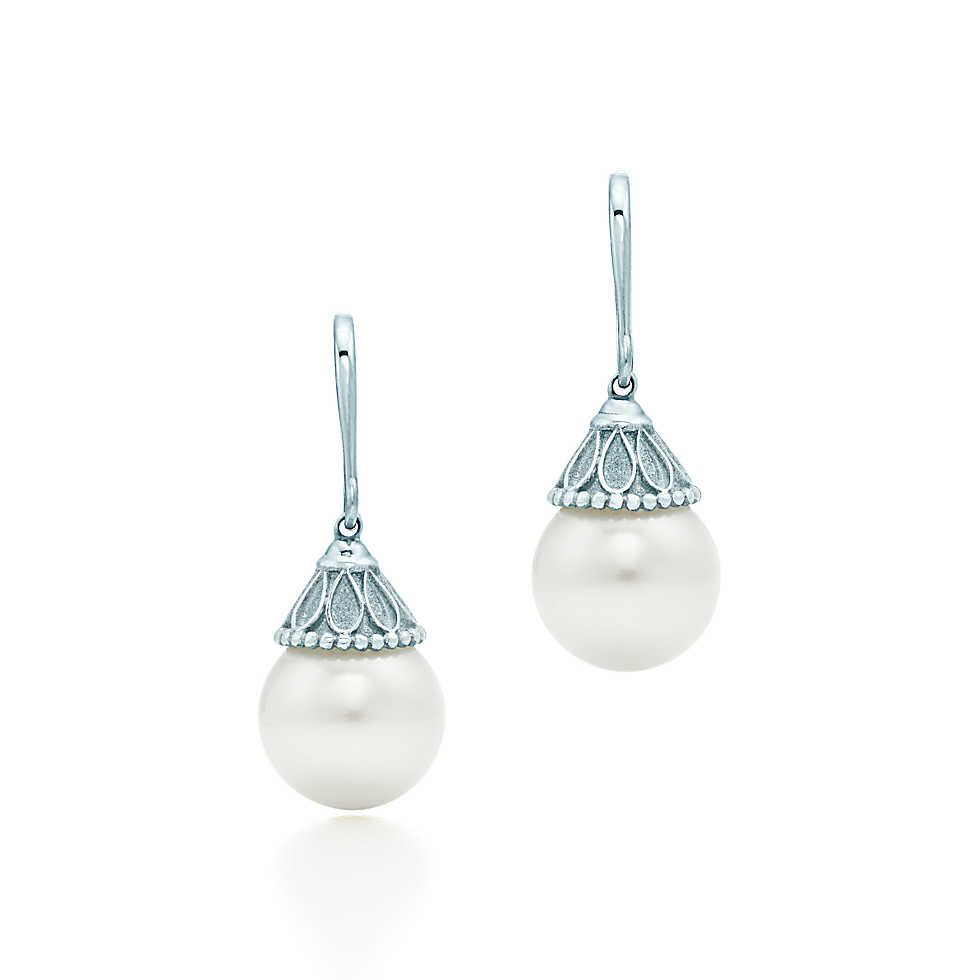 Ziegfeld Collection drop earrings in sterling silver with pearls Tiffany & Co. rOw1W