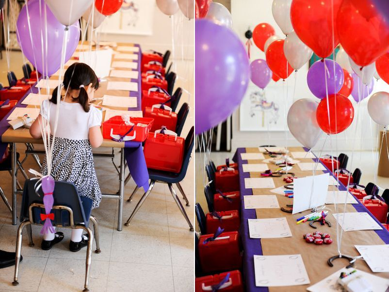 Leias Red and Purple Birthday Party Birthday party ideas