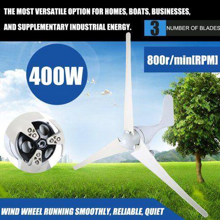 S Shape 400W Wind Turbine Universal Windmill Generator 3 Blades 20A