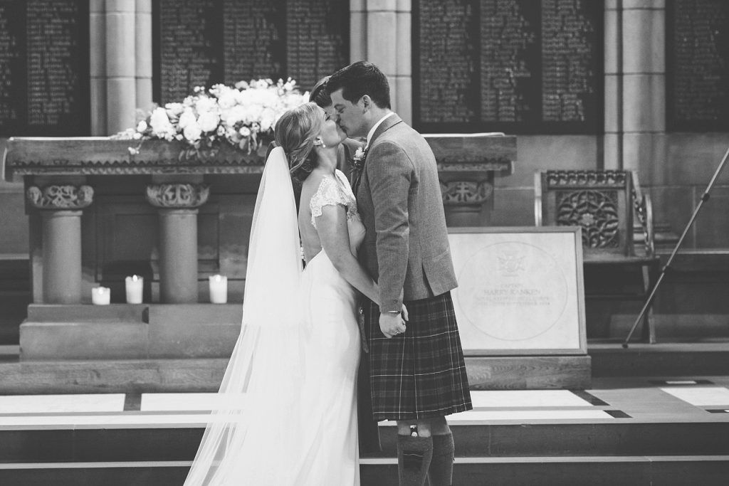 Glasgow Wedding Photography University Chapel And Oran Mor Vintage Style Reportage