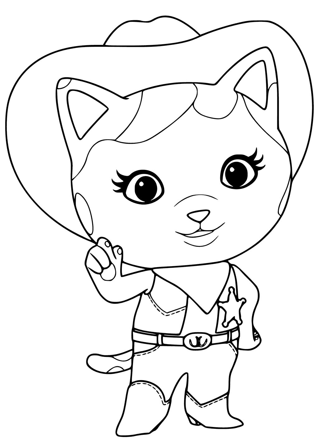 Sheriff Callie Coloring Pages Best Coloring Pages For Kids In 2020 Coloring Pages Star Coloring Pages Sheriff Callie