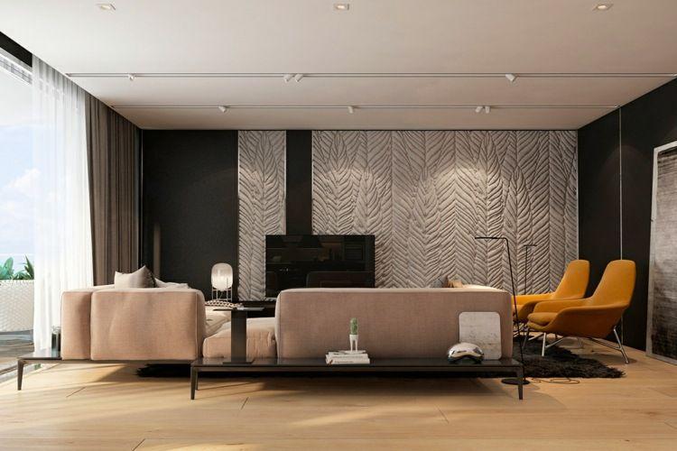 Stilvolle Und Luxuriose Interieure Iryna Dzhemesiuk   Die Inneneinrichtung Wird Durch Eine Stilvolle Akzentwand Erganzt