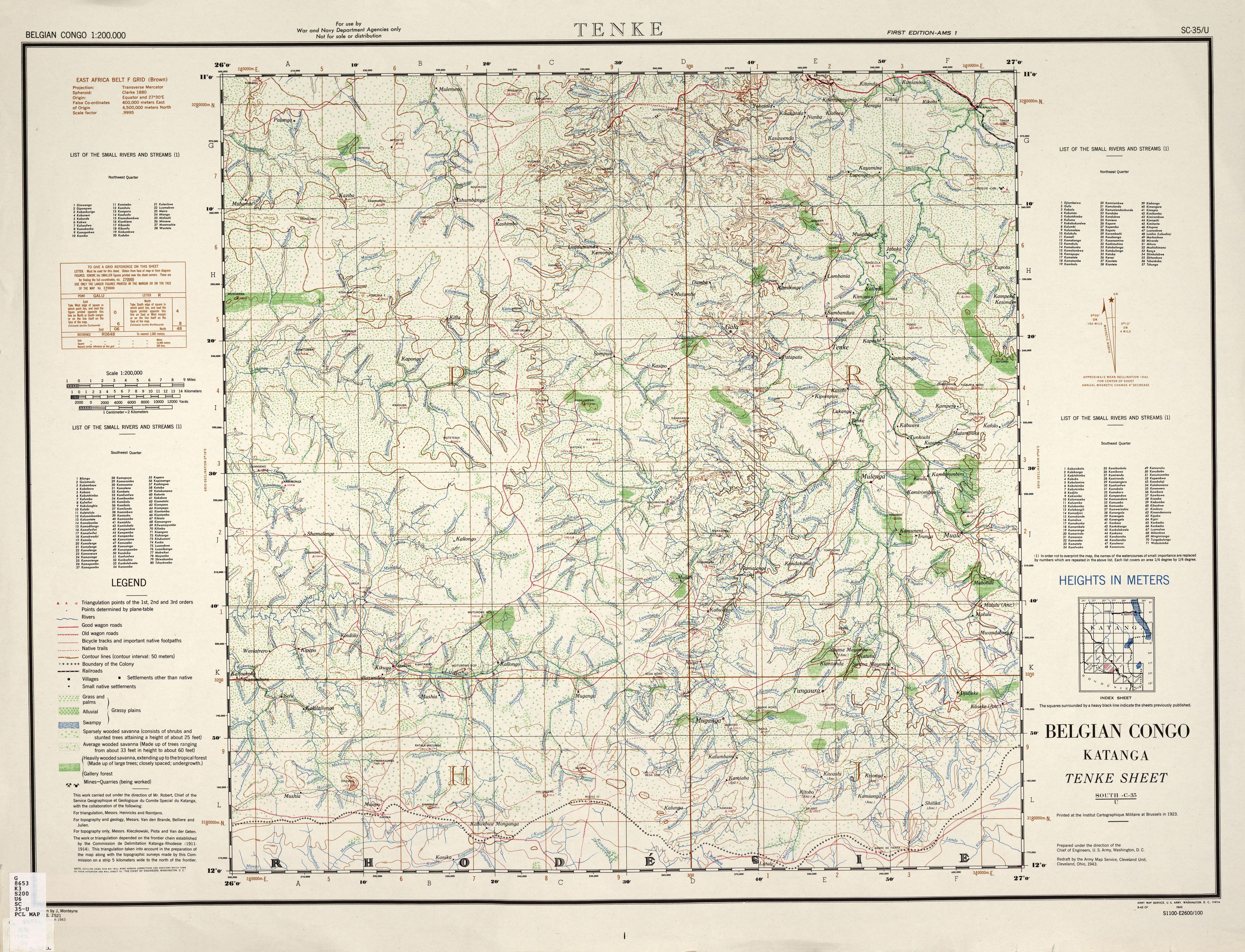 Belgian Congo Belgian Congo AMS Topographic Maps PerryCastaeda
