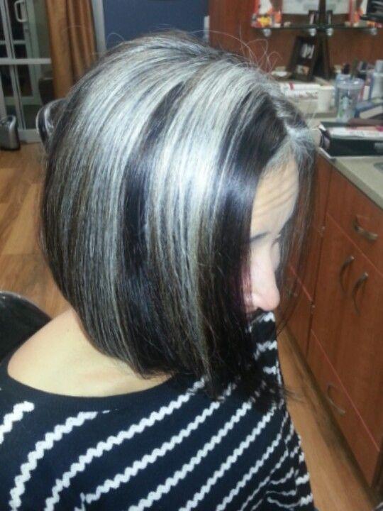 Grey Hair Bob Hairstyle Gray Hair Growing Out Grey